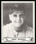 1940 Play Ball Reprint #131  Zeke Bonura  Front Thumbnail