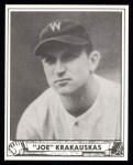 1940 Play Ball Reprint #188  Joe Krakaukas  Front Thumbnail