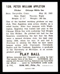 1940 Play Ball Reprint #128  Pete Appleton  Back Thumbnail
