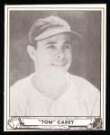 1940 Play Ball Reprint #39  Tom Carey  Front Thumbnail
