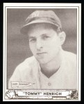 1940 Play Ball Reprint #4  Tommy Henrich  Front Thumbnail