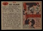 1957 Topps #18  Bob St. Clair  Back Thumbnail