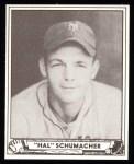 1940 Play Ball Reprint #85  Hal Schumacher  Front Thumbnail