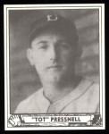 1940 Play Ball Reprint #146  Tot Pressnell  Front Thumbnail