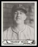 1940 Play Ball Reprint #167  Frankie Frisch   Front Thumbnail