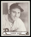 1940 Play Ball Reprints #102  Chuck Klein  Front Thumbnail