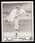 1940 Play Ball Reprint #23  Dutch Leonard  Front Thumbnail