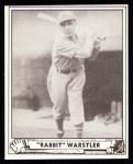 1940 Play Ball Reprint #59  Rabbit Wartstler  Front Thumbnail