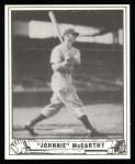 1940 Play Ball Reprint #215  Johnny McCarthy  Front Thumbnail