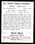 1941 Play Ball Reprint #58  Frank Demaree  Back Thumbnail