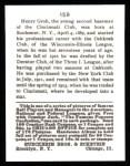 1915 Cracker Jack Reprint #159  Heinie Groh  Back Thumbnail