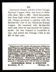 1915 Cracker Jack Reprint #89  Lawrence Cheney  Back Thumbnail