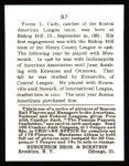1915 Cracker Jack Reprint #87  Forrest Cady  Back Thumbnail