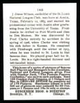 1915 Cracker Jack Reprint #148  Owen Wilson  Back Thumbnail