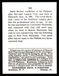 1915 Cracker Jack Reprint #96  Beals Becker  Back Thumbnail