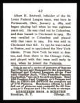 1915 Cracker Jack Reprint #42  Al Bridwell  Back Thumbnail