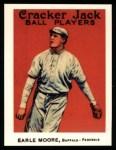 1915 Cracker Jack Reprint #124  Earl Moore  Front Thumbnail