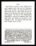 1915 Cracker Jack Reprint #124  Earl Moore  Back Thumbnail