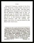 1915 Cracker Jack Reprint #112  Ed Sweeney  Back Thumbnail