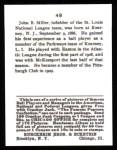 1915 Cracker Jack Reprint #49  Dots Miller  Back Thumbnail
