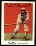 1915 Cracker Jack Reprint #49  Dots Miller  Front Thumbnail