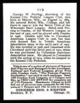 1915 Cracker Jack Reprint #119  George Perring  Back Thumbnail