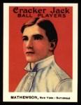 1915 Cracker Jack Reprint #88  Christy Mathewson  Front Thumbnail