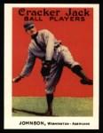 1915 Cracker Jack Reprint #57  Walter Johnson  Front Thumbnail