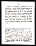 1915 Cracker Jack Reprint #9  Artie Hoffman  Back Thumbnail