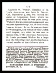 1915 Cracker Jack Reprint #173  Ed Tilly Dixie Walker  Back Thumbnail