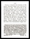 1915 Cracker Jack Reprint #127  Butch Schmidt  Back Thumbnail