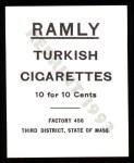 1909 T204 Ramly Reprint #119  Bob Unglaub  Back Thumbnail