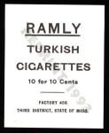 1909 T204 Ramly Reprint #17  Al Bridwell  Back Thumbnail