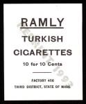 1909 T204 Ramly Reprint #11  Chief Bender  Back Thumbnail