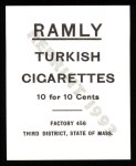 1909 T204 Ramly Reprint #58  Miller Huggins  Back Thumbnail