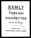 1909 T204 Ramly Reprint #49  Bob Ganley  Back Thumbnail