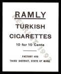 1909 T204 Ramly Reprint #1  Whitey Alperman  Back Thumbnail