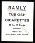 1909 T204 Ramly Reprint #48  Art Fromme  Back Thumbnail
