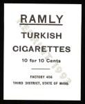 1909 T204 Ramly Reprint #48  Art Fromme  Back Thumbnail