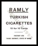 1909 T204 Ramly Reprint #13  Cliff Blankenship  Back Thumbnail