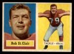 1957 Topps #18  Bob St. Clair  Front Thumbnail