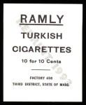 1909 T204 Ramly Reprint #115  Bill Sweeney  Back Thumbnail