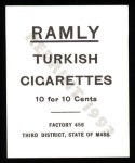 1909 T204 Ramly Reprint #75  Amby McConnell  Back Thumbnail