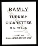 1909 T204 Ramly Reprint #71  Harry Lumley  Back Thumbnail