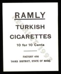 1909 T204 Ramly Reprint #82  Pat Moran  Back Thumbnail