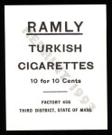 1909 T204 Ramly Reprints #7  Frank Bancroft  Back Thumbnail