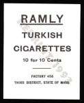 1909 T204 Ramly Reprint #52  Clark Griffith  Back Thumbnail