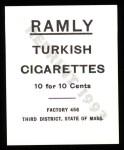 1909 T204 Ramly Reprint #69  Hans Loebert  Back Thumbnail