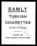 1909 T204 Ramly Reprint #8  Johnny Bates  Back Thumbnail