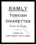 1909 T204 Ramly Reprint #102  Slim Sallee  Back Thumbnail